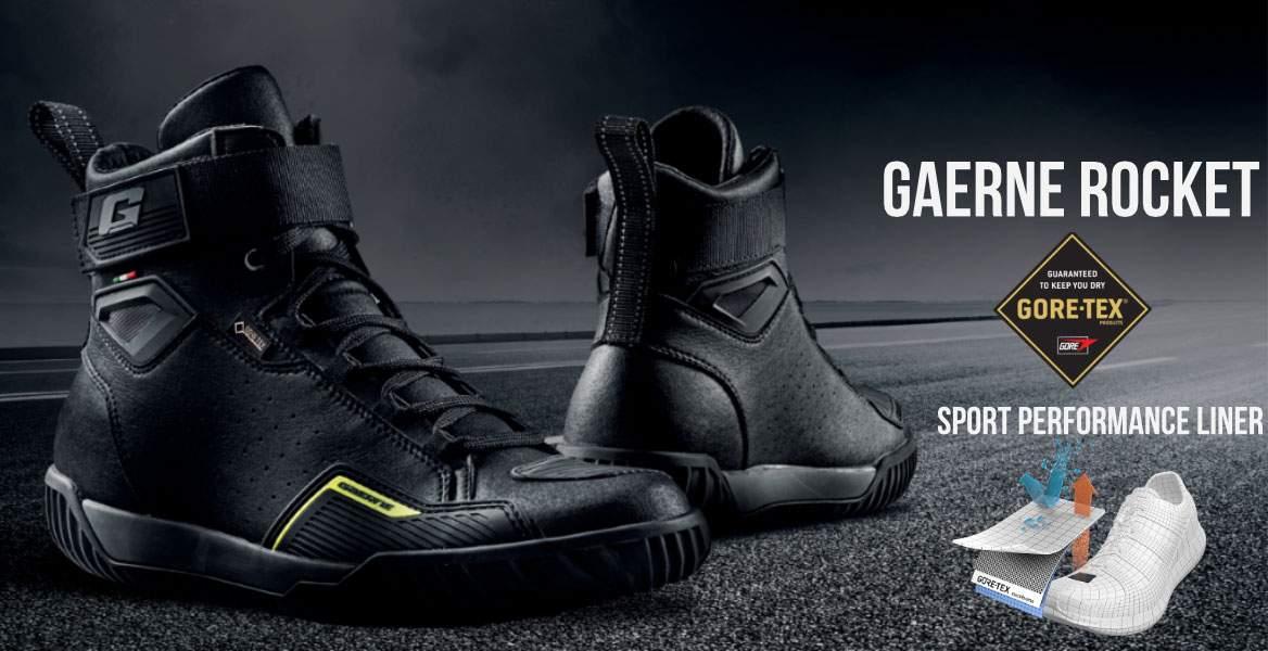 gaerne,rocket,goretex,schwarz,motorradschuhe,ebike,gaerne deutschland,zertifiziert motorrad Schuhe,