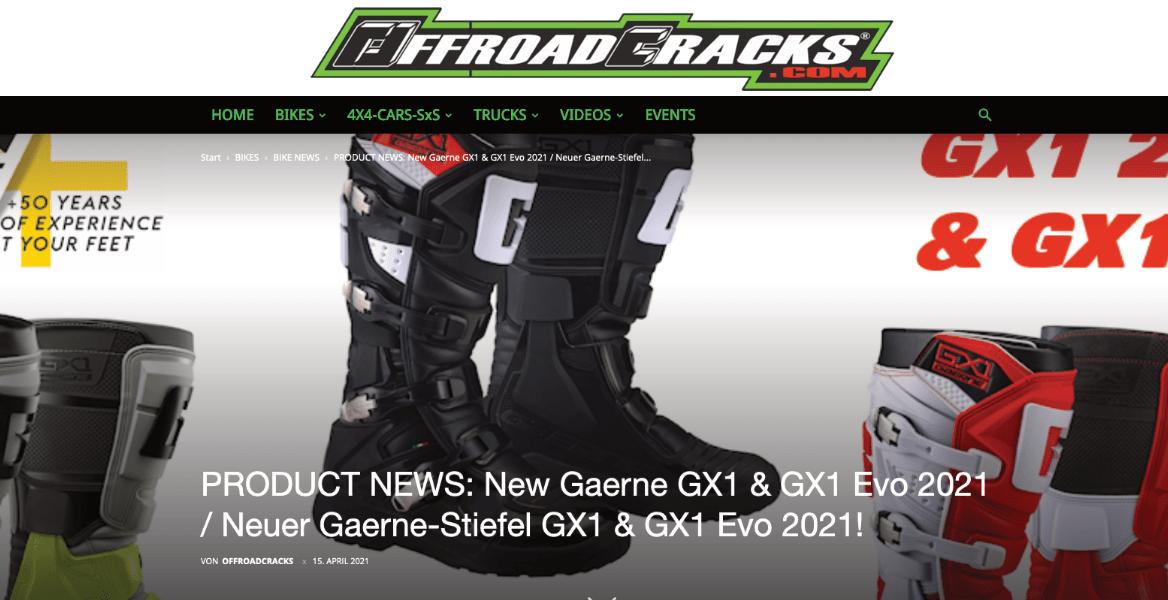 Offroad-Cracks-Publizierung GAERNE GX 1 / GX1 Evo Motorcross - Enduro - Stiefel